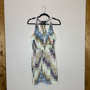 TELA tank dress abstract pattern
